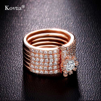 2018 Latest Design Vintage Flower Link Friendship Rings Gold Crystal