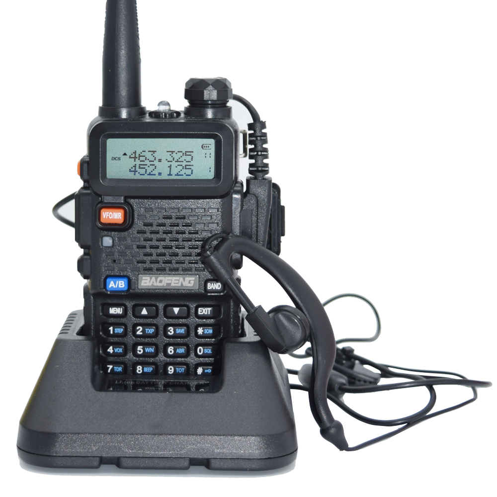 Best Buy Hands Free Baofeng UV-5R 5KM Walkie Talkie Dual Band Portable 2 Way Radio UV5R