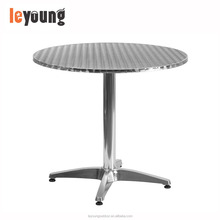 Aluminium Outdoor Round Table With Stainless Steel Table Top