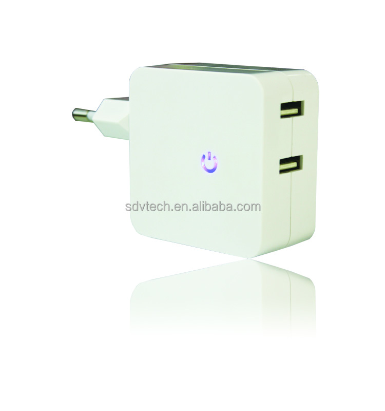 5V 4.8A 2-port dual usb wall charger for iPhone for samsung galaxy for htc mobile phones