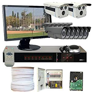 GW Security VD8CHH4 8-Channel HD-SDI DVR 8 x 1/3 Inches 2.1 Meg CMOS Camera with 1080P One is 2.8 to 12mm Lens and One is 2 Array IR Lens (Colorful)