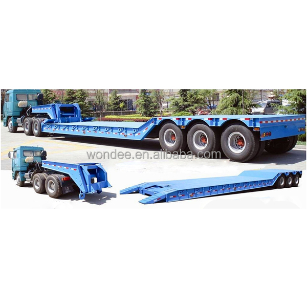 Front Loading with Detachable Gooseneck Low Boy Semi Trailer