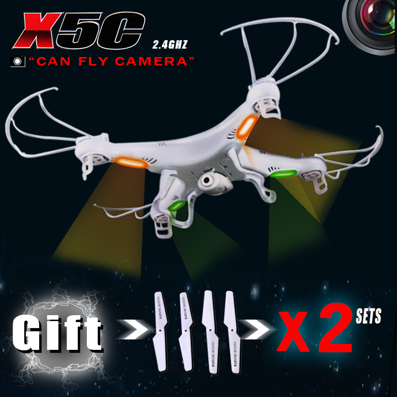 Have 3 Sets Of Blades RC Helicopter SYMA X5c 6 Axis GYRO Drone Quadcopter With