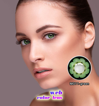 17966b9fcb Green flower colored contacts fashion petals style contact lens for sale