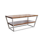 Home furniture bamboo moden white coffee table