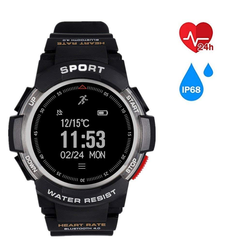 FuriGer Waterproof Sport Smart Watch,Bluetooth Smart wrist Band,Heart Rate Monitor Sport Smart Watch Sport Bracelet Gift for Boy Girl Sports Outdoors Activity Pedometer(Silver)