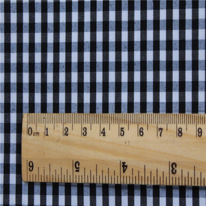 yarn dyed imitate memory fabric in 100%polyester for jacket plain South America yarn dyed school uniform gingham fabric
