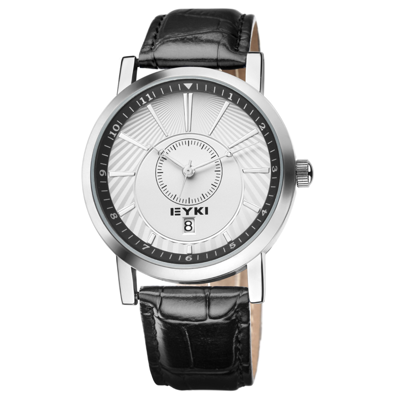 Genuine EYKI 2015 new business casual sports watches men top brand luxury calendar waterproof retro minimalist 8723
