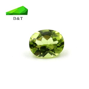 Green Oval Cut Natural Peridot Loose Gemstone in 4x5mm