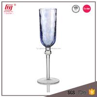 Wholesale glassware 200ml ball stemmed purple champagne glass flute
