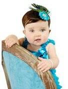 Smile Lovely Baby Girls Headbands Rhinestone Flower Headbands For Girls Infant Hair Band for kids HB316