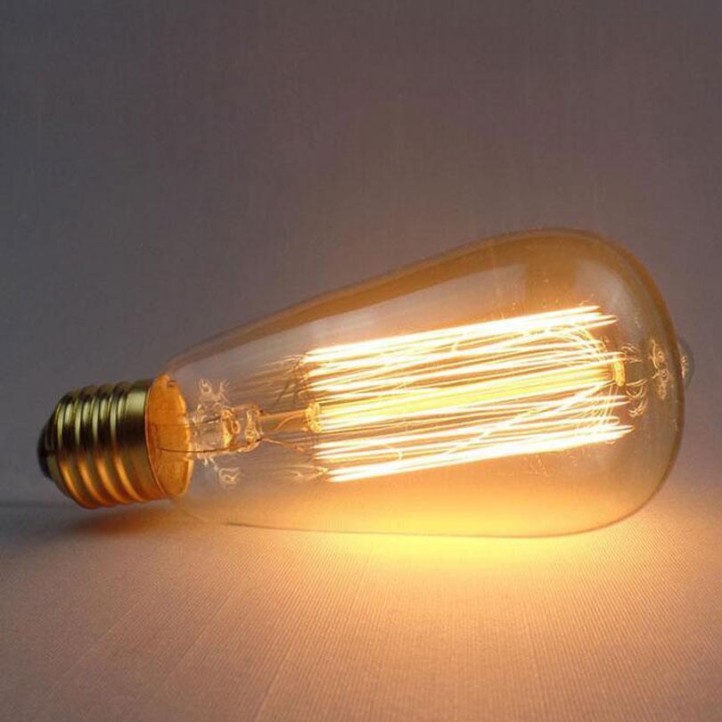Fabriek Prijs Edison Lamp E27 220v Retro Vintage Lamp Moderne Edison Gloeilamp 25w 40w 60w Buy St64 Lamp,Edison Lamp,E27 St64 Lamp Product on
