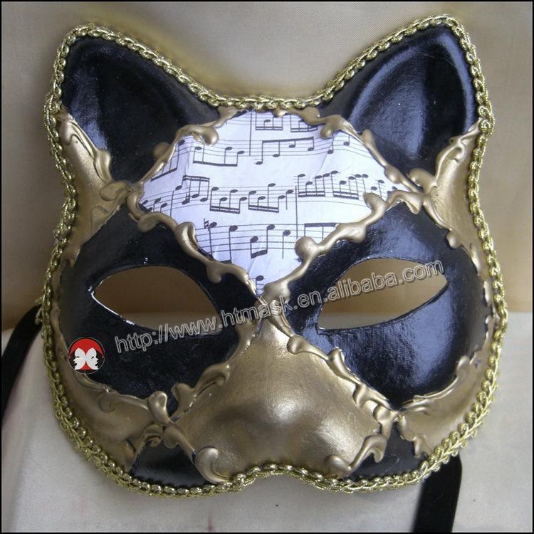 Yağlı Boya Pullu Seksi Kedi Kadın Göz Maskesi Masquerade Partisi