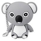 Hot sale 3D custom PVC koala USB Flash drive usb pendrive keychain promotional with gift box