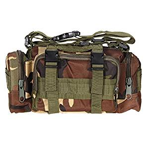 Adahill(TM) 600D Waterproof Oxford fabric Climbing Bags Outdoor Military Tactical Waist Pack Camping Hiking Pouch Bag