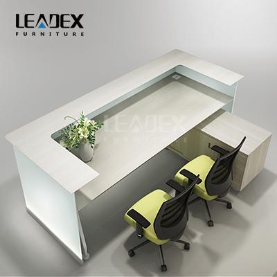 Moderne Aussehen Bürogegen Design Glas Rezeption-Glastisch-Produkt ...