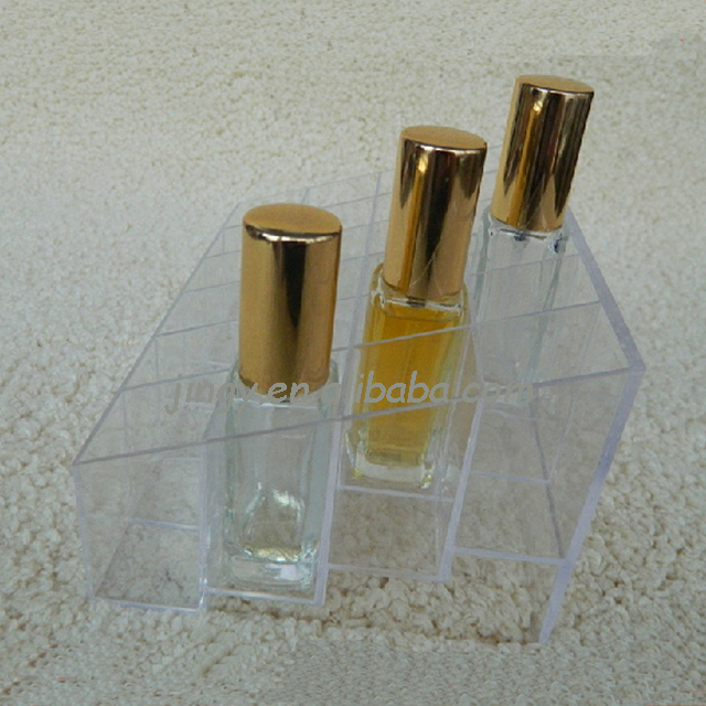 transparent and high clear large volume acrylic perfume holder
