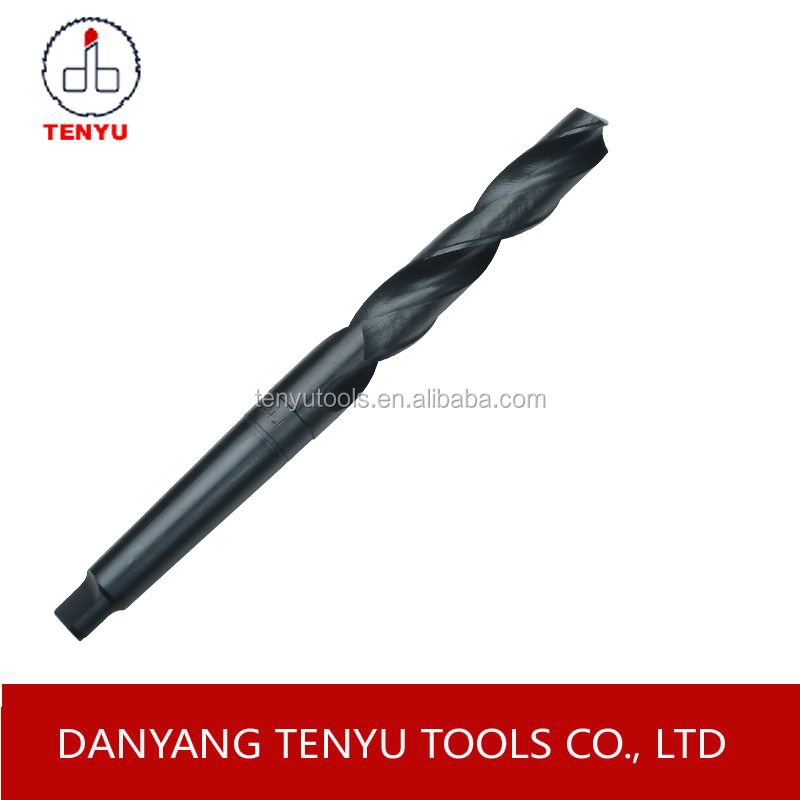 Din345 standard tianium plated surface finish drill bit with tapered shank