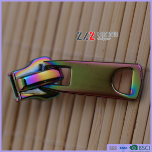 Rainbow zipper slider Zinc alloy metal zipper slider