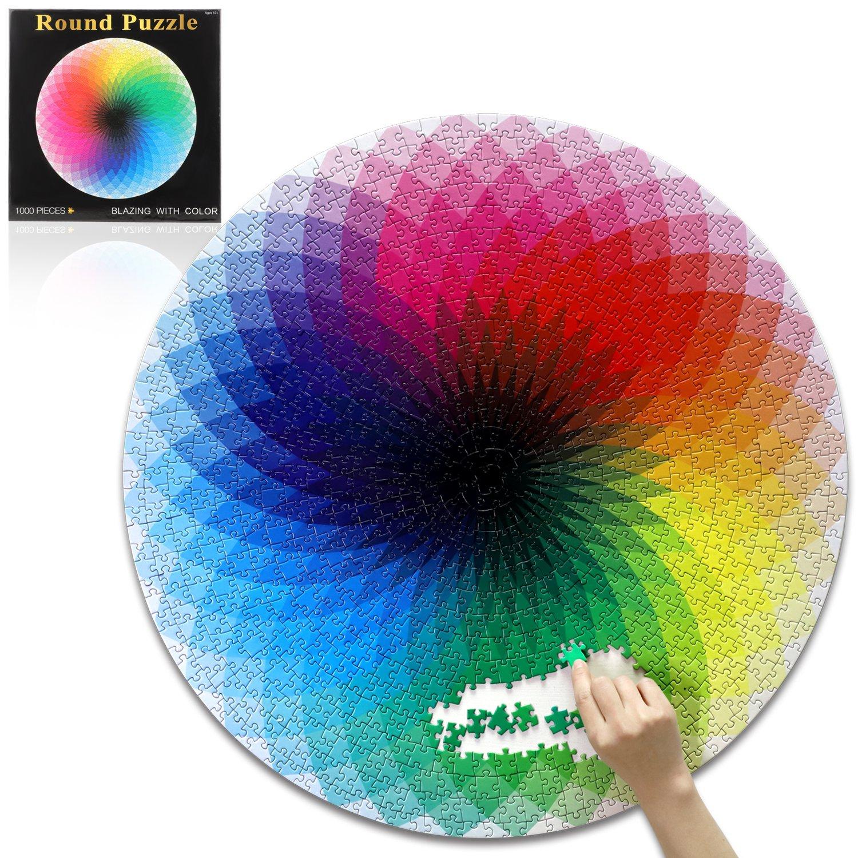 Buy Round Jigsaw Puzzles Rainbow Palette Jigsaw Puzzles