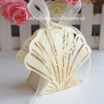 New Design Beach Wedding Favors Laser Cut Ivory Shell Wedding Favor