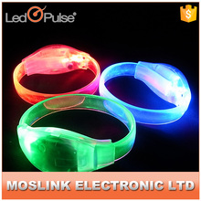 Custom wedding gift multicolor sound activated led bracelet led flashing bracelet led party
