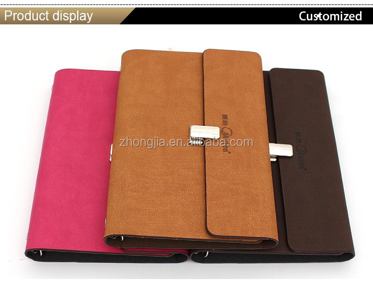 Hot sale 6 ring binder leather agenda A5
