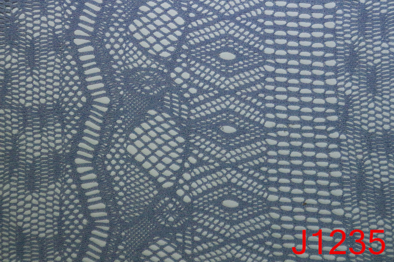 Polyester rayon chemical lace embroidery fabric for sale