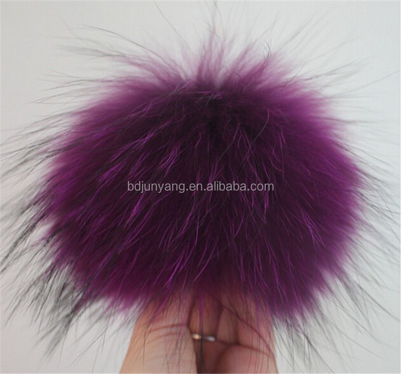 e822d33d31d long hair fur ball car keychain fur pom-pom slipper raccoon fur pompom for  hat