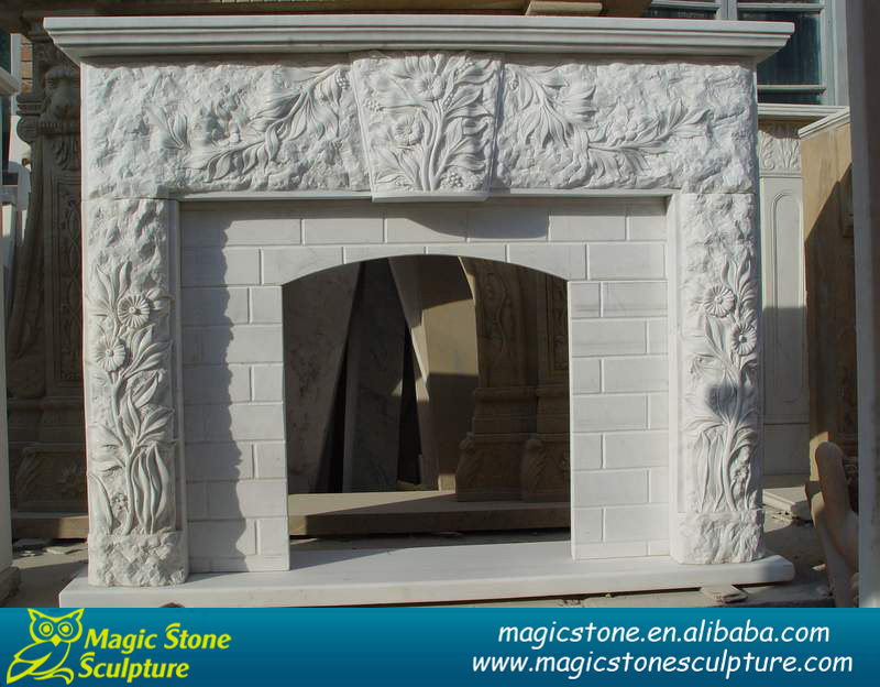 white marble electric fireplace for your home