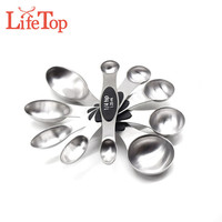 Premium Stackable Magnetic Stainless Steel 5-Piece Measuring Spoon Set