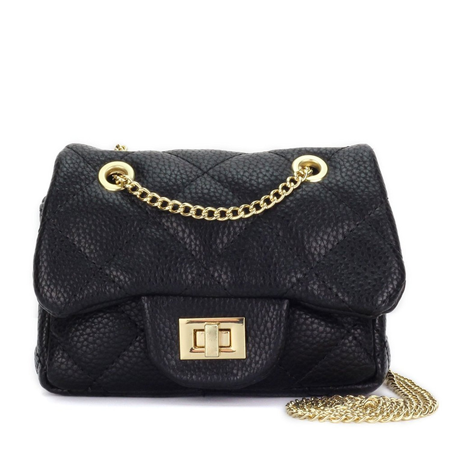 Get Quotations · CMK Trendy Kids Quilted Shinning Glitter Kids Crossbody  Handbags for Girls with Metal Chain 652242063965c
