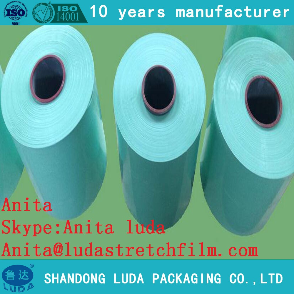 Hot sales lldpe film Hay Bale Wrap silage strech film for plastic wrap film