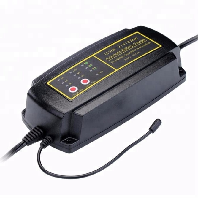 7 Tahap 1/2/4A 24 V Baterai Charger Mobil Smart Charger Baterai Alat Charger