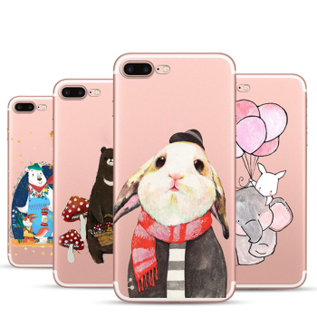 Image of: Tekcoo Cute Painted Animal Clear Soft Tpu Phone Case For Samsung J7 Plus Alibaba Cute Painted Animal Clear Soft Tpu Phone Case For Samsung J7 Plus