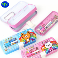 Factory hot sales 3 layer tin pencil case of bottom price