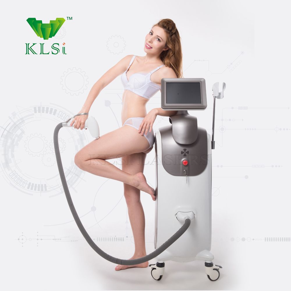 KLSi obvious effect lumenis professional salon 808nm diode laser painless pussy hair removal machine with painless