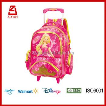 Enrich Kids Beautiful Cartoon Design Trolley School Bag For Girls ...