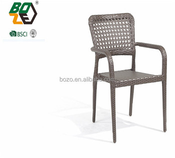 White Outdoor Wicker Cast Aluminum Patio Furniture Plastic Chairs In China