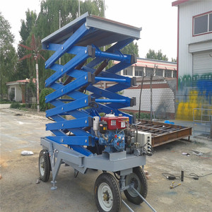 Diesel Engine Towing Type Lift Equipment Hydraulic Scissor Lift