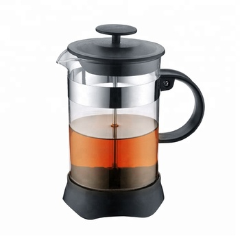 High Quality With Plastic Handle French Press Tea Maker With Stainless Steel Coffee Plunger
