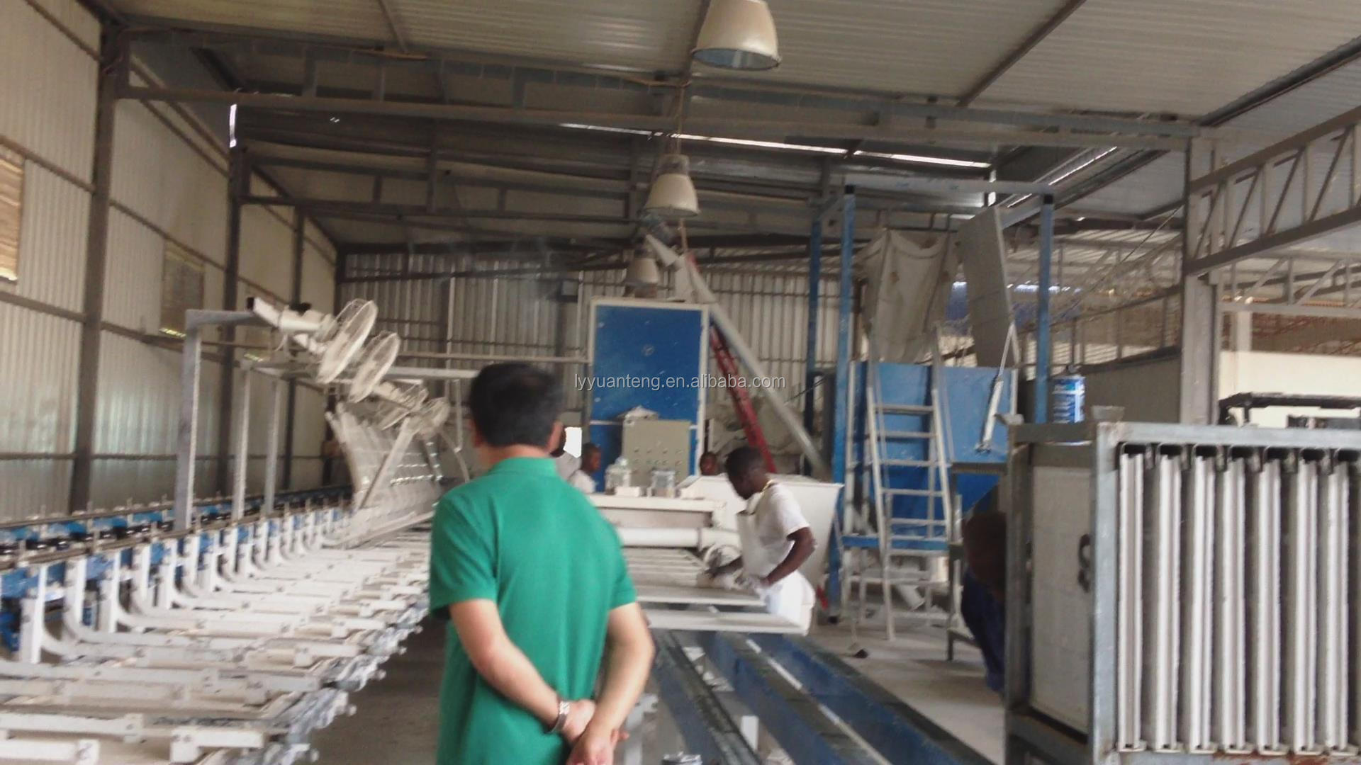 gypsum ceiling production making machine