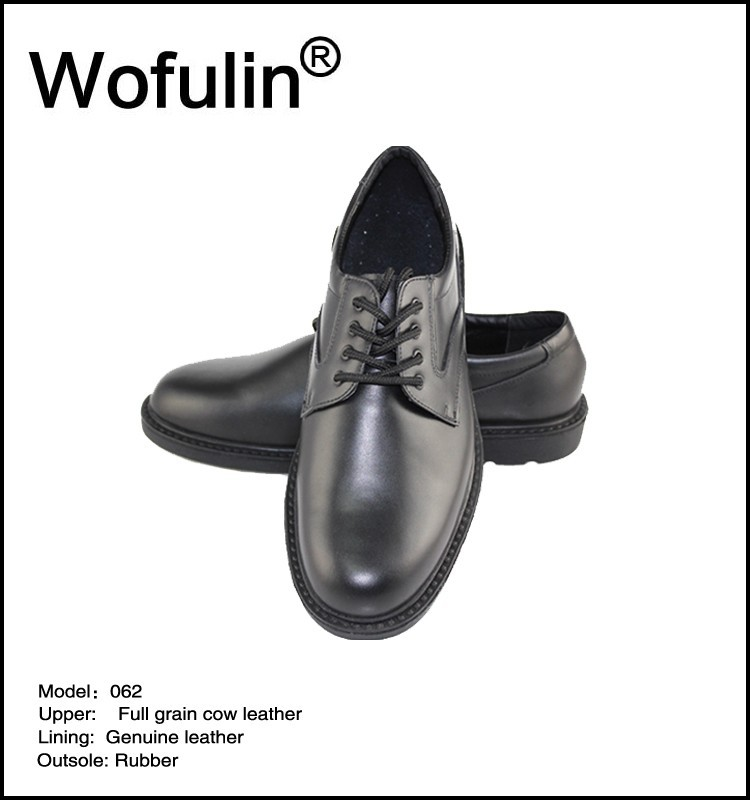 Leather police shoes wholesale for men