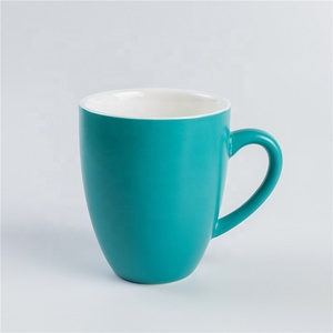 Drinkware Amazon high quality bright green tea coffee porcelain mug for cafe