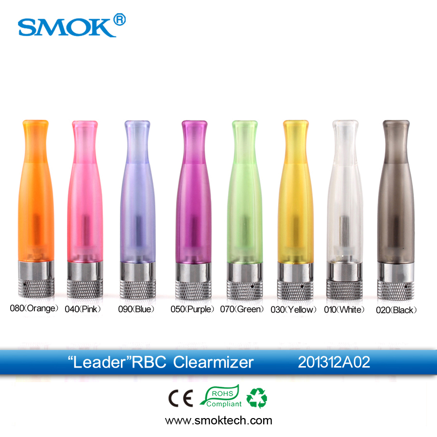 Wholesale Smok leader RBC 1.6ml glossy RBC 1.8ohm bottom single coil clearomizer big vapor
