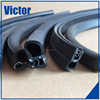Black, white, mid-transparent, multi-color epdm, silicon, nbr d shape self-adhesive rubber seal strip
