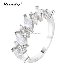 Wholesale Platinum Plated White Clear CZ Engagement Ring
