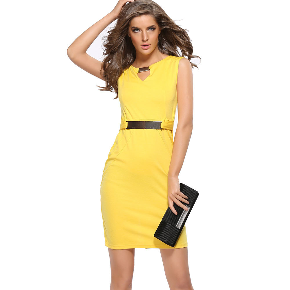 2017 Fashion Lady Formal Office Party Casual Dresses Plus Size Sleeveless  Summer Pencil Women Dress - Buy Women Dress,Pencil Dress,Women Party Dress  ...