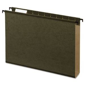 Esselte Pendaflex Corporation Products - Hanging Folder, 2amp;quot; Expansion, 1/5 Cut Tabs, Letter, 20/BX, Green - Sold as 1 BX - Hanging file folders feature extra capacity and SureHook technology with revolutionary built-in tension springs so the rods bend less. Folders stay on rails and slide