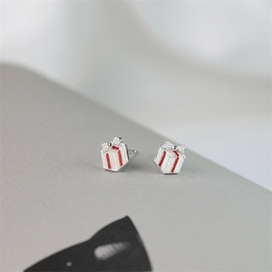 DY Trendy Christmas gift s925 sterling silver earrings color epoxy enamel stud earring